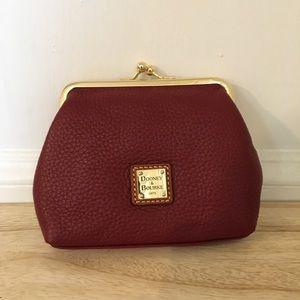 Dooney & Bourke coin purse in burgandy leather